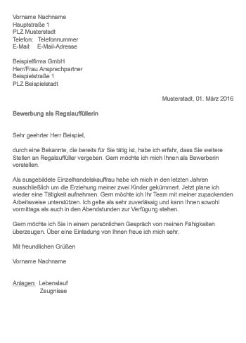 Bewerbung Ferienjob Kaufland muster gt bewerbung als regalauff 252 ller in