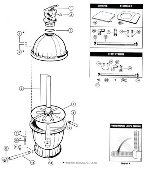 hayward parts diagram hayward s160t sand filter parts diagram