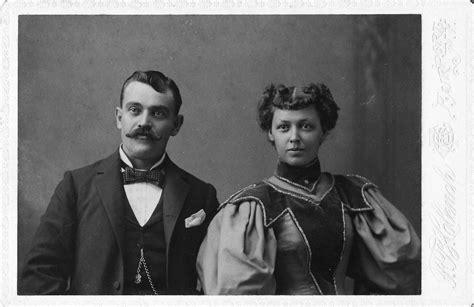 R Cabinet Studio Interracially Married Couple Taken Between 1889 And 1898