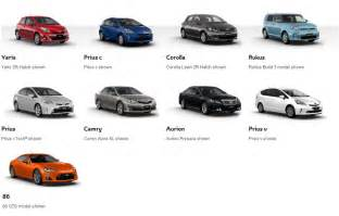 new cars names list all toyota models autos post