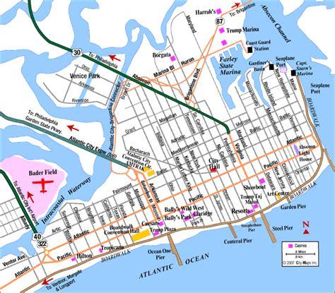 atlantic city map road map of atlantic city atlantic city new jersey aaccessmaps