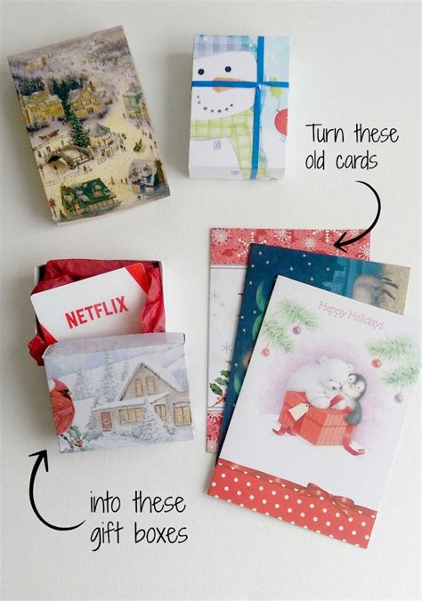 diy gift boxes up cycling christmas cards life in