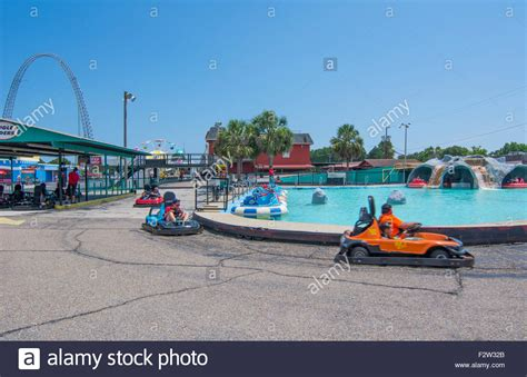 track panama city panama city florida attraction called race city go kart cars stock photo