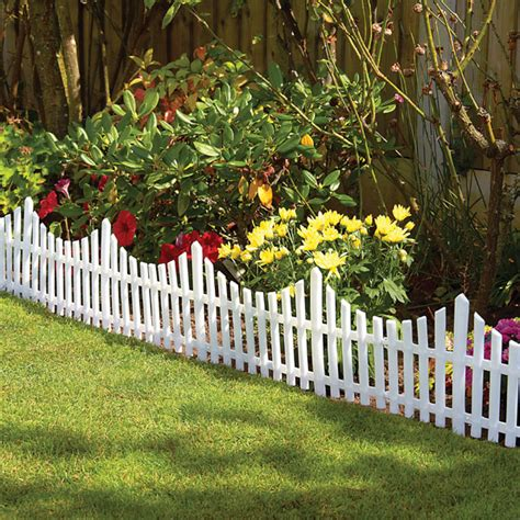 Flower Garden Fence Plastic Garden Border Fence Lawn Grass Edge Path Edging Picket Flower Ebay
