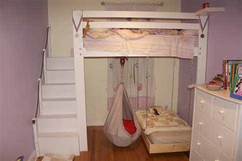 diy ikea loft bed kids space loft bed bunk bed build with hanging toddler