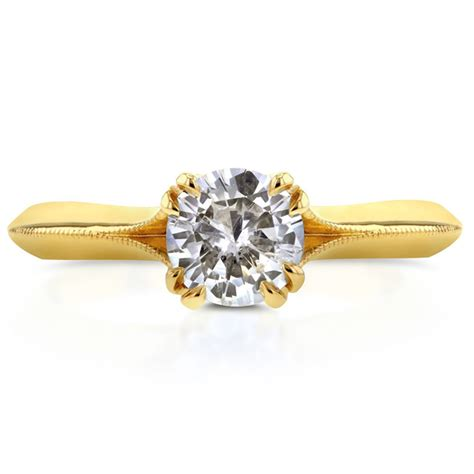 Rhinestone Ring Gold gold color radiant solitaire rhinestone engagement rings