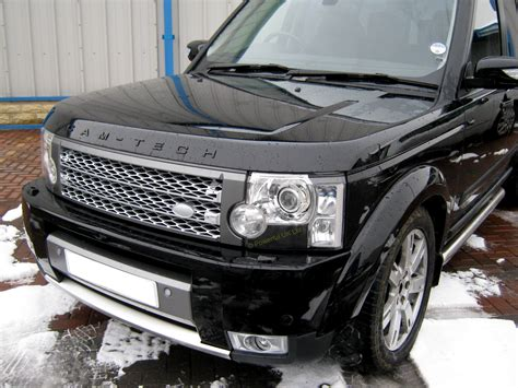 silver land rover discovery supercharged style front grille silver grey land rover