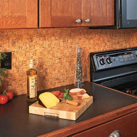 update a backsplash with cork flooring my home my style