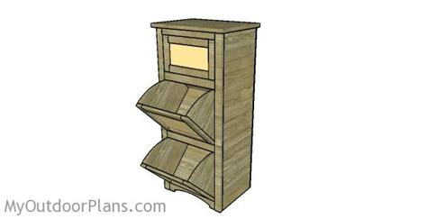 woodworking plans potato and onion bin