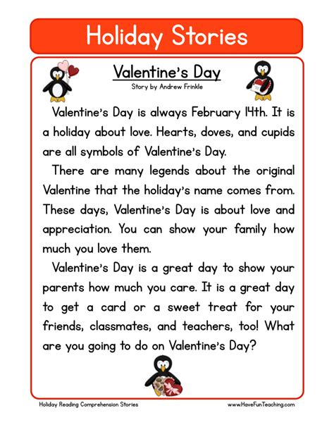 valentines stories s day worksheets teaching