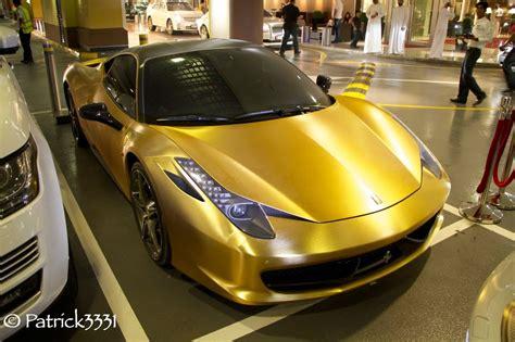 gold ferrari gold brushed ferrari 458 italia dubai incl start up