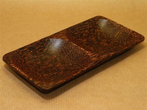 Japanese Lotus Square Plate L 15cm W 15cm H 35cm 1 coconut wood serving bowls at incense incenses perfumery arts handicrafts