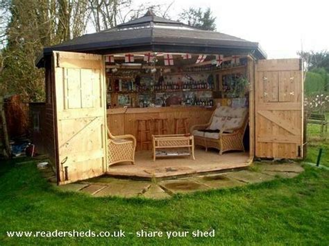 shed turned into a bar plants outdoor