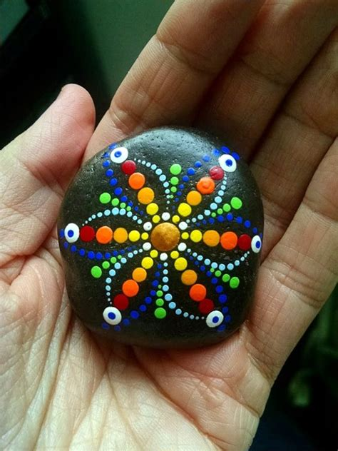 40 Diy Mandala Stone Patterns To Copy Templates For Painting Rocks