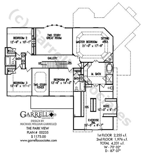 park view house plan house plans by garrell associates inc