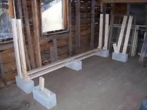 diy indoor cinderblock firewood rack storage design using