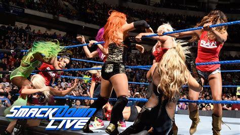 nikki bella on raw nikki bella vs carmella ends in chaos as team raw invades