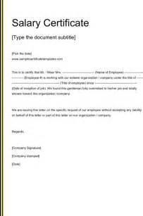 Salary Certificate Templates For Excel Pdf And Word