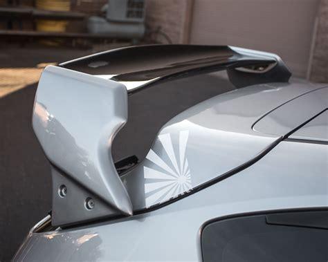 subaru hatchback wing blacktop aero deck wing spoiler subaru wrx