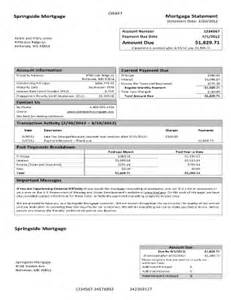 loan invoice template sle mortgage statement fill printable