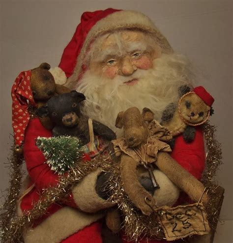 Handmade Santa Dolls - 10 images about s klaus on folk le
