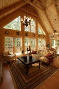 Interior Log Homes by Log Cabin Pictures Rockbridge Southland Log Homes