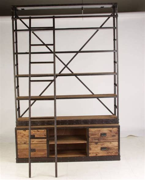 haines industrial bookshelf matt blatt industrial look