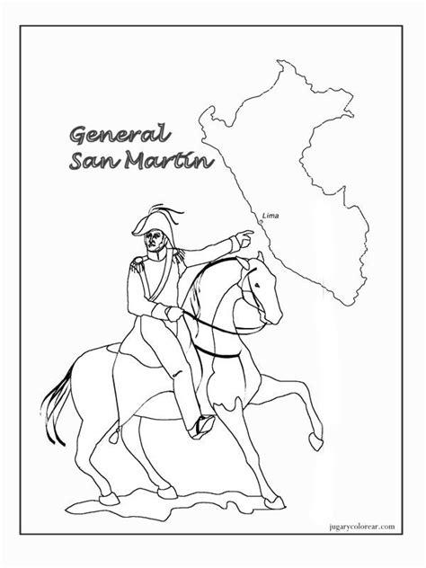 imagenes para colorear batalla de la victoria im 225 genes del general jos 233 de san mart 237 n para colorear