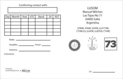 qsl card templates free hrojects qsl cards by accucolor