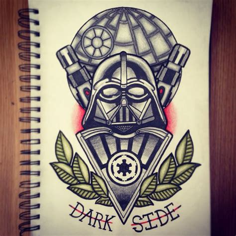 tattoo old school star wars darth vader tattoo design tattoos pinterest darth