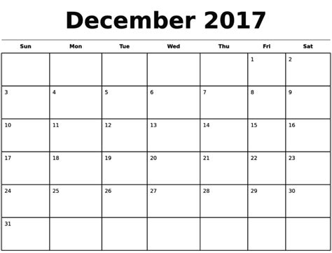printable monthly calendar for december 2017 december 2017 calendar editable calendar template letter