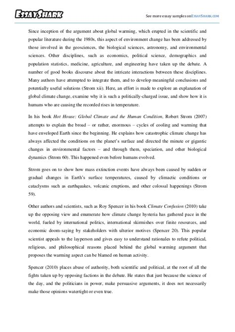 Global Warming Opinion Essay by Essay Outline Global Warming