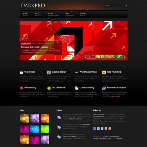 professional themes html template 347 dark pro