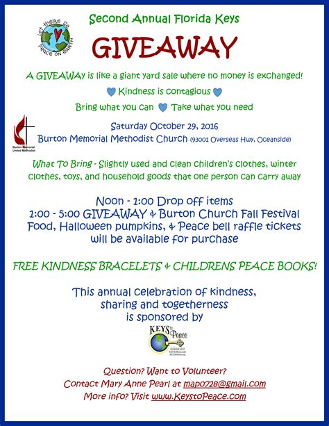 Keys Giveaway - annual florida keys giveaway keys to peace