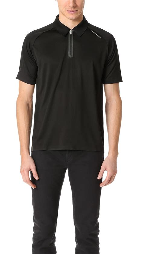 Sweater This Travelling Jidnie Clothing porsche design travel polo in black for lyst