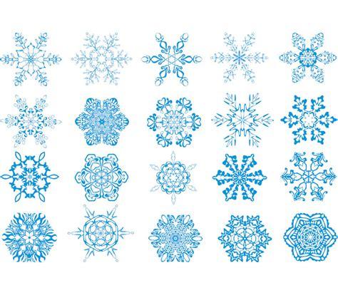 Winter snowflakes vector set of 18 blue vector winter snowflake