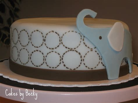 Baby Shower Cakes With Elephants by Cakes By Becky Blue Elephant Baby Shower Cake