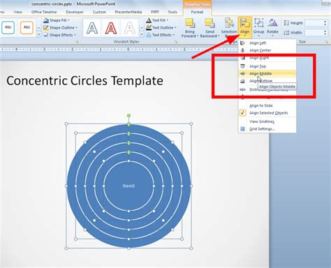 How To Create Concentric Circles In Powerpoint Concentric Circles Powerpoint Template