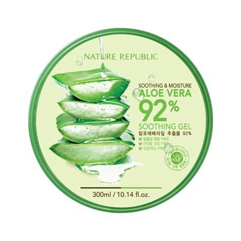 Aloe Vera Nature Republic 25 Ml nature republic aloe vera 92 soothing gel 300ml ebay
