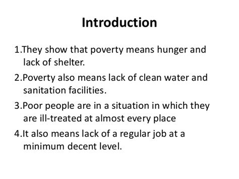poverty as challenge poverty as a challenge