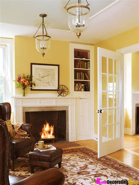 yellow rooms wall colors living rooms idea french doors yellow room