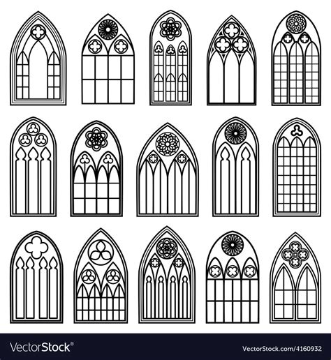 window silhouettes template window silhouettes royalty free vector image