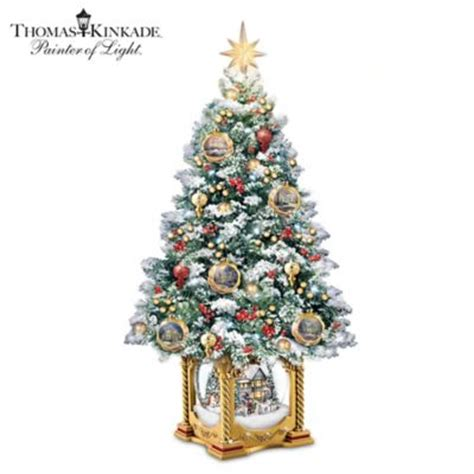 thomas kinkade snow kissed holiday memories tabletop tree