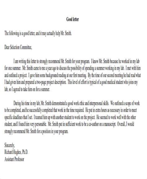 Summer Recommendation Letter 8 sle internship recommendation letter free sle