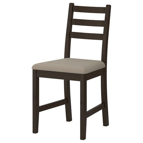 stuhl wooden lerhamn chair black brown ramna beige ikea