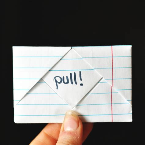 Folding Paper Into A - origami how to fold a note into a secretive envelope