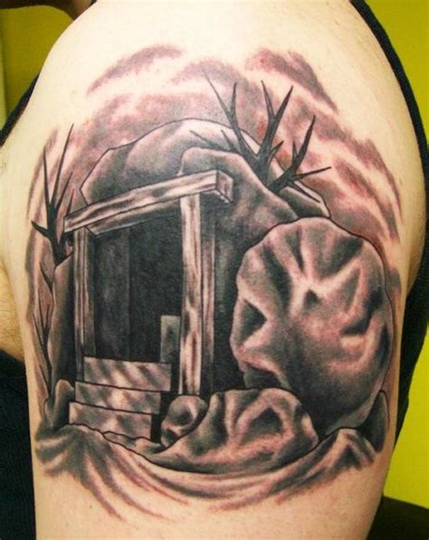 jesus resurrection tattoo top cross and empty tomb images for pinterest tattoos