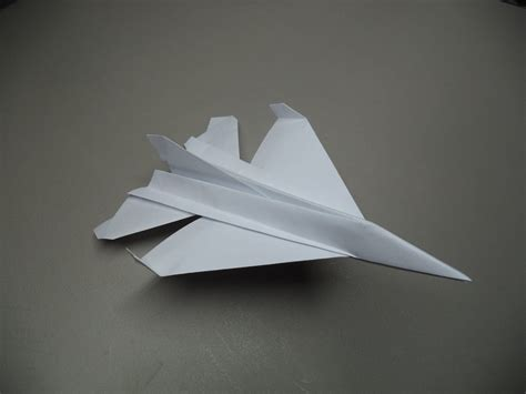 Folded Paper Airplanes - how to fold an origami f 16 paper plane tutorial
