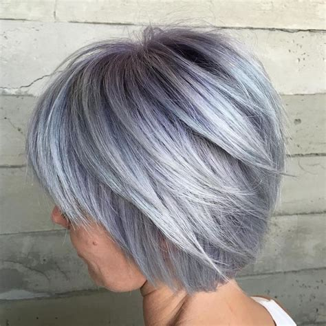 short gray layered bob 51 best images about hair do s on pinterest shorts