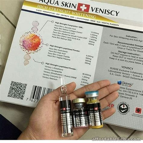 aqua skin veniscy high strenght whitening glutathione for